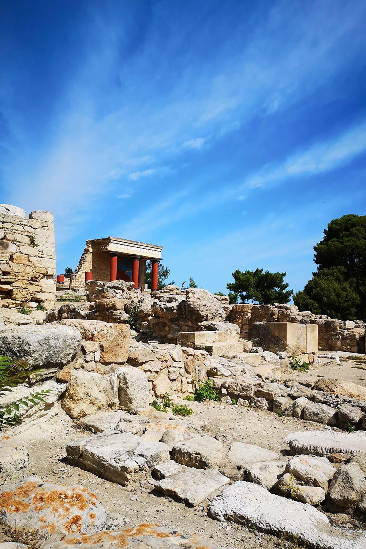 Vista verso l'ingresso Nord del Palazzo di Cnosso