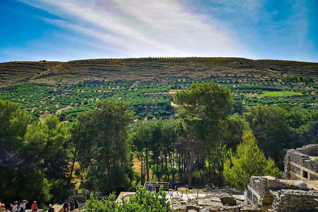 Il paesaggio dal palazzo di Cnosso