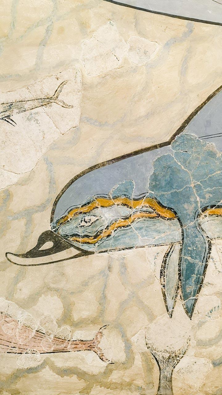 Affresco minoico con delfino