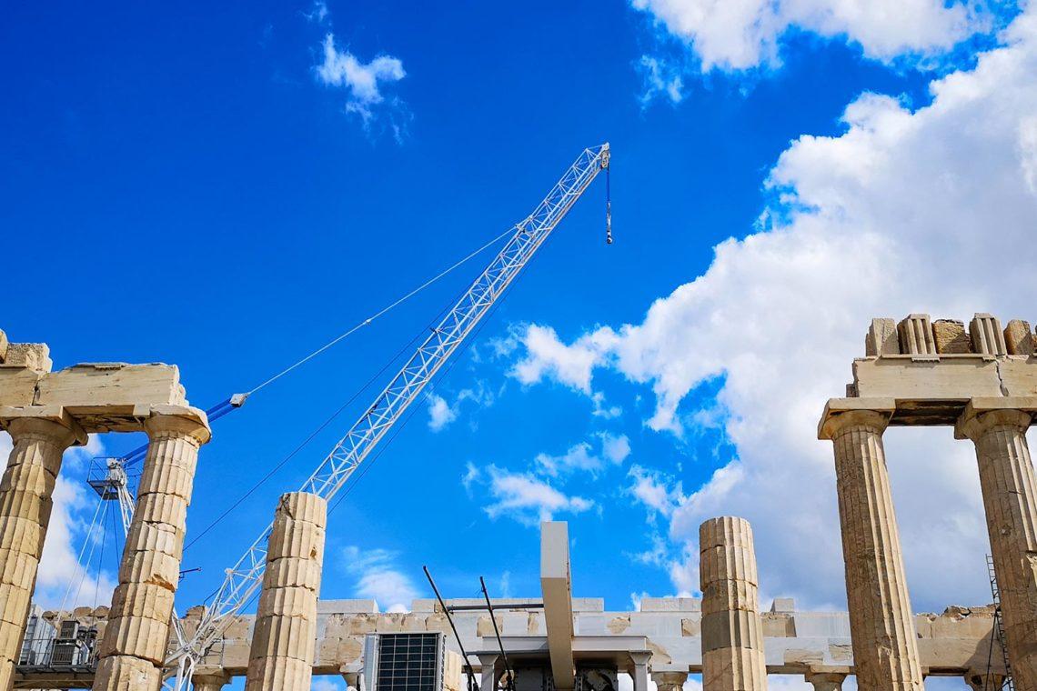 Lavori di restauro al Partenone