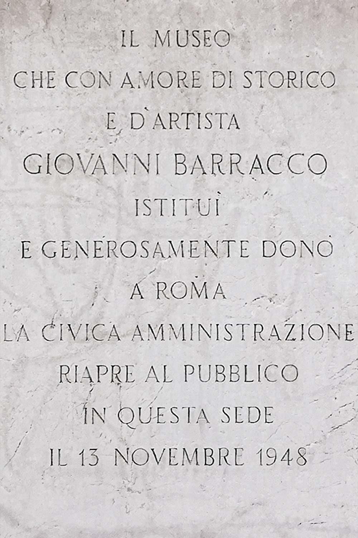 Iscrizione Museo Barracco