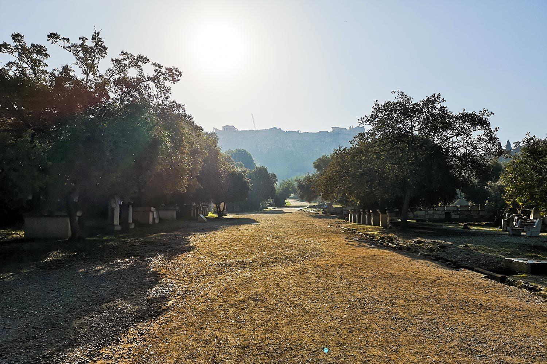 Agorà la salita verso l'acropoli