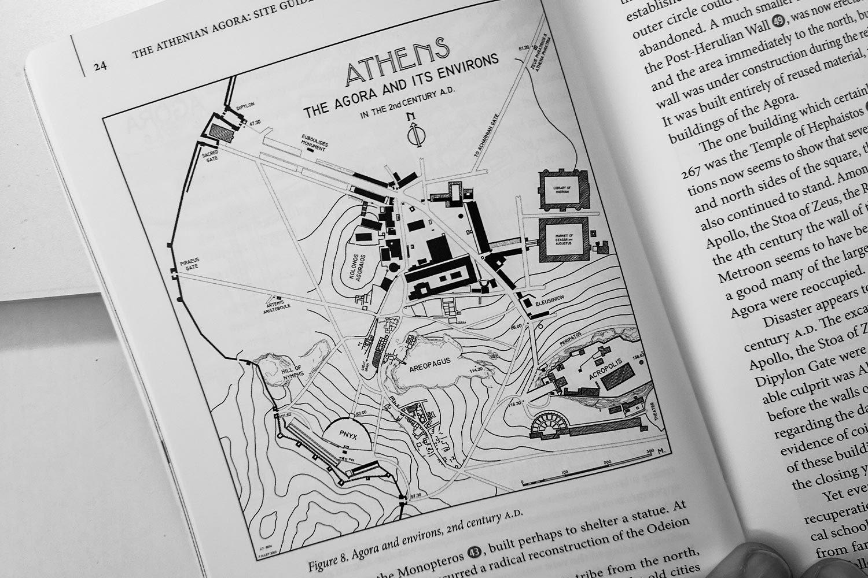 Mappa Agorà di Atene