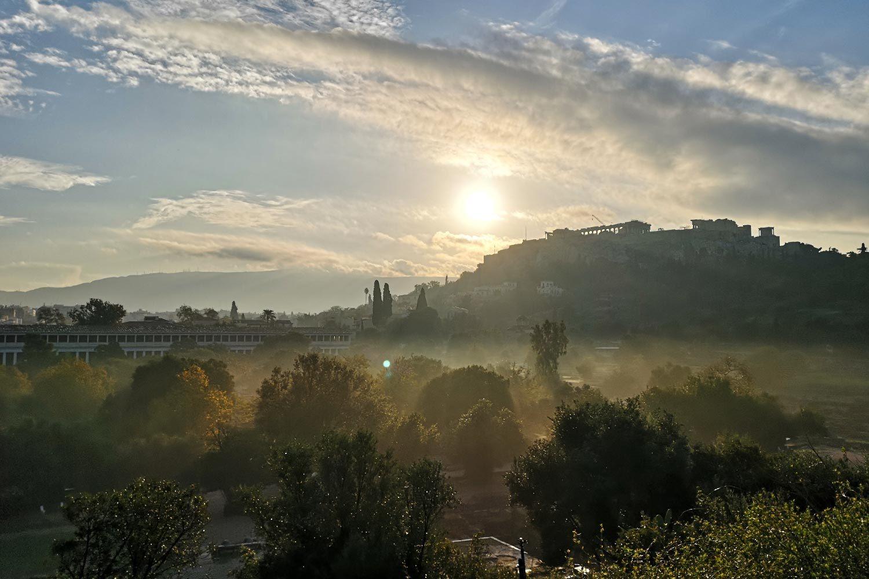 Agorà di Atene al mattino