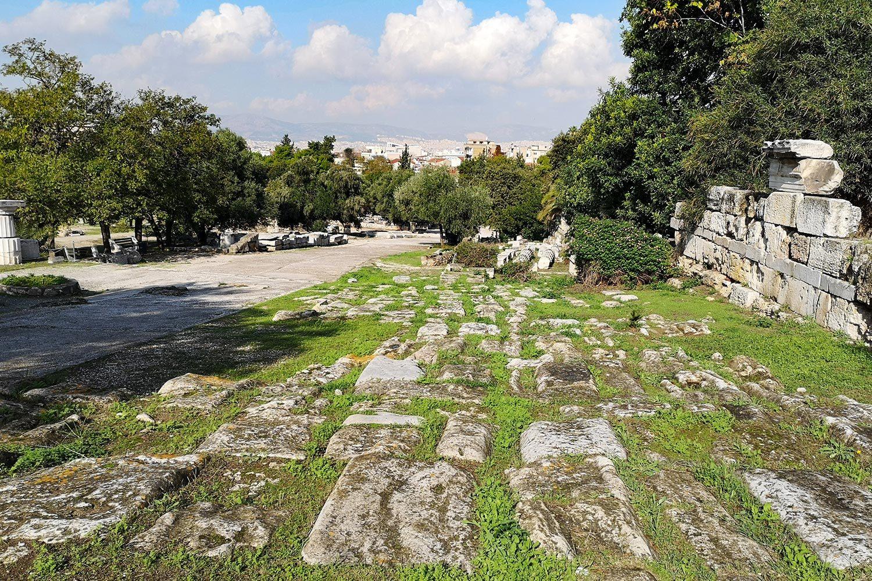 Pavimentazione via Panatenaica