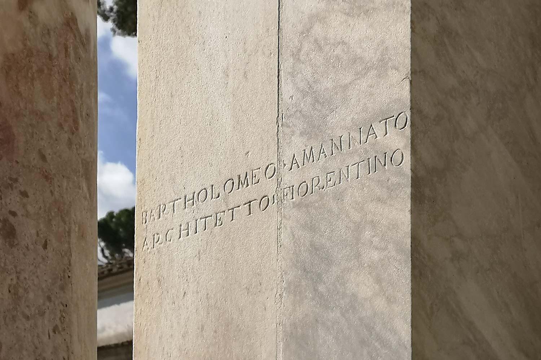 Iscrizione Bartolomeo Ammannati