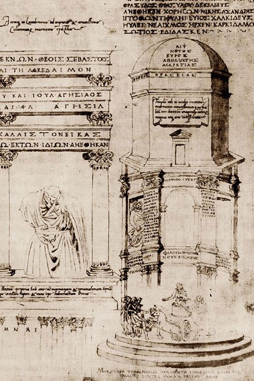 Ciriaco d'Ancona - Sangallo - Torre dei Venti Atene