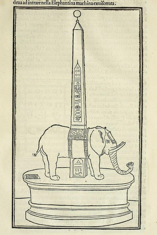 Elefante obeliscoforo Hypnerotomachia Poliphili