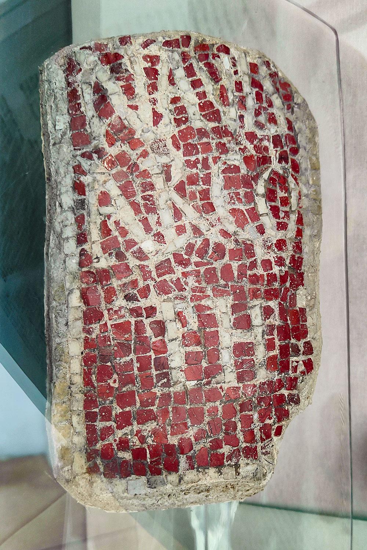 Mosaico con iscrizione nave Argo
