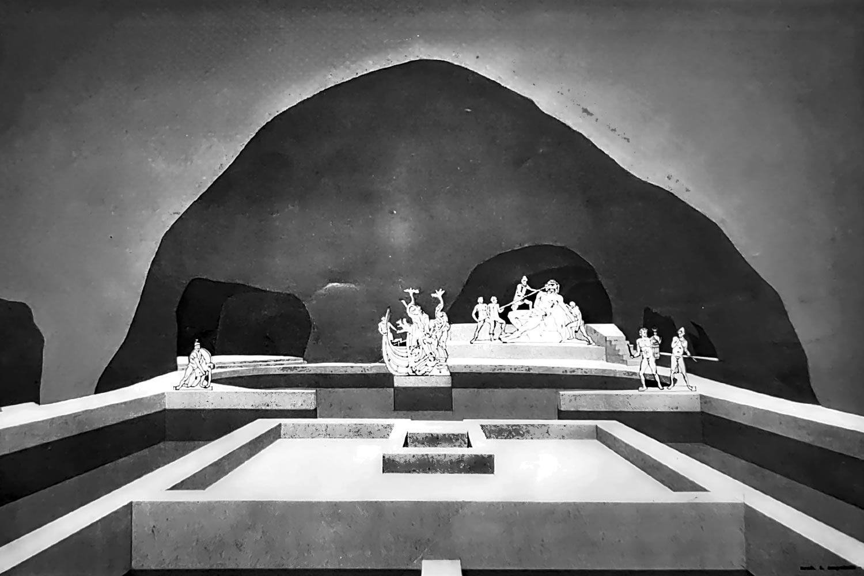 Ricostruzione della grotta di Tiberio