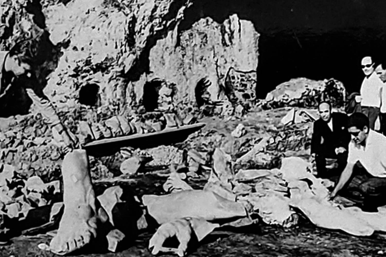 Scavi nella grotta di Tiberio