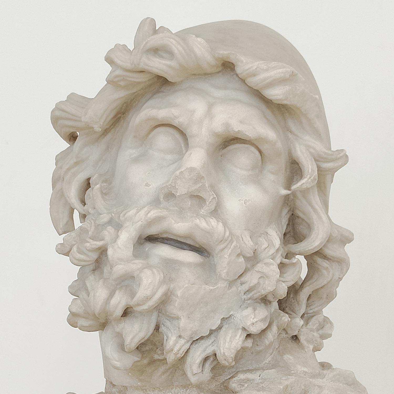Dettaglio del volto di Ulisse